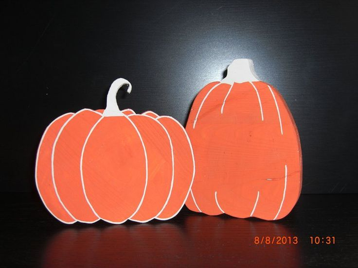 Deko Halloween - Kürbisse 2er-Set - ein Designerstück von holzwahn bei DaWanda