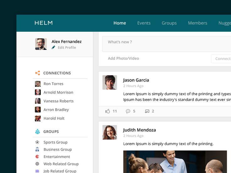 104 best Social Web Design images on Pinterest   Flat design ...