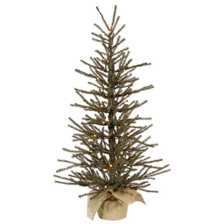 "3' x 18"" Vienna Twig Pre-lit Christmas Tree 50 Clear Lights at eLightBulbs.com.  Click on their store link."