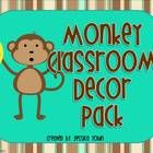 This monkey classroom decor pack includes:  -Writing Journal Labels  -Reading Workshop Journal Labels  -Math Journal Labels  -Grammar Journal Labels  -A...