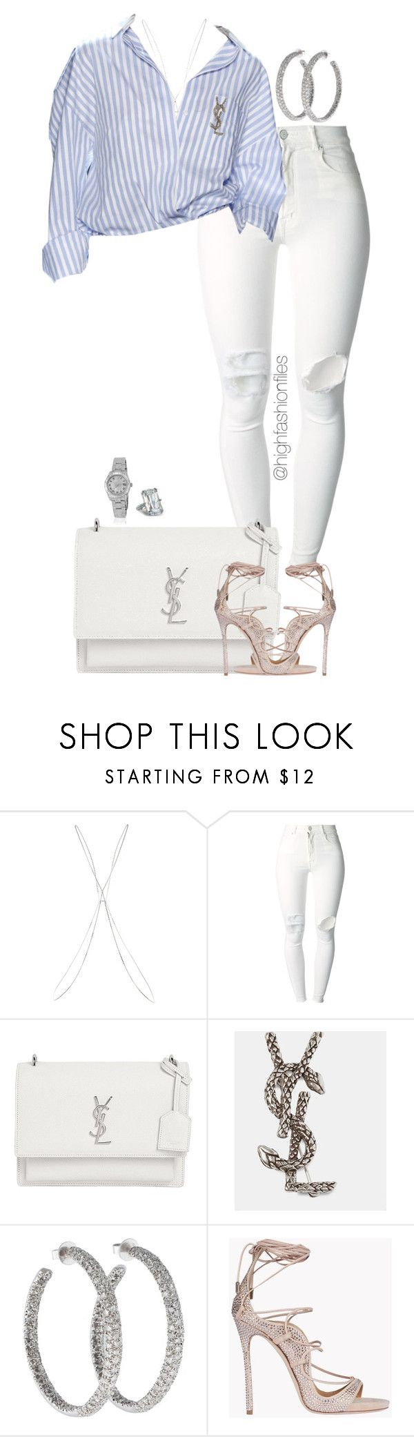 """Untitled #2732"" by highfashionfiles ❤ liked on Polyvore featuring Topshop, (+) PEOPLE, Yves Saint Laurent, Lorraine Schwartz, Dsquared2, Rolex and Chopard"