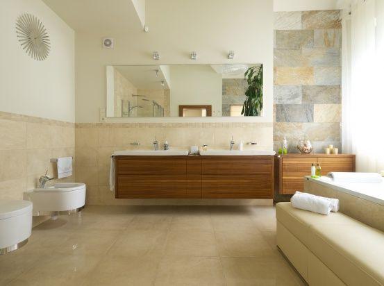 Łazienka urządzona w... |  Małe łazienki – tak je urządzisz beżach. 15 pomysłów