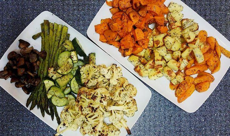 Legume la cuptor (cartof dulce, dovlecel, sparanghel, ciuperci, conopida) ❤️