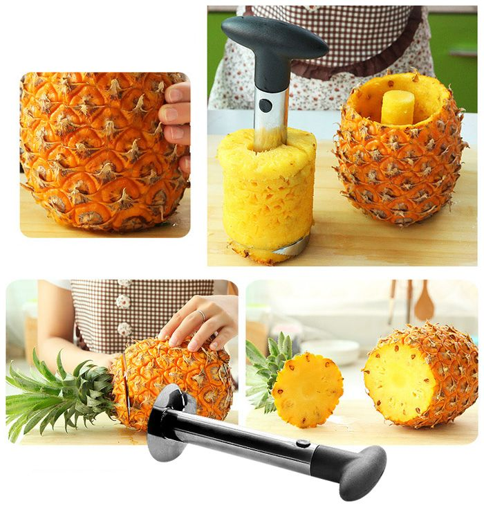 Stainless Steel Fruit Pineapple Cutter Peeler Corer Slicer Easy Kitchen Tool | Sammydress.com