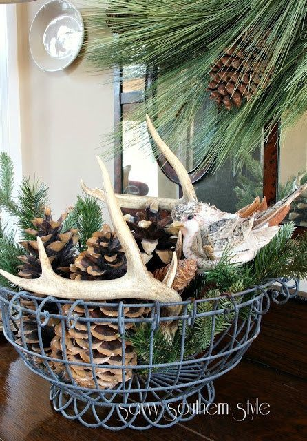 Cabin Christmas & Winter Decorations - Winter Table Ideas & More! -