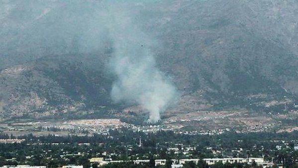 Incendio forestal se registra en el sector de Alto Macul