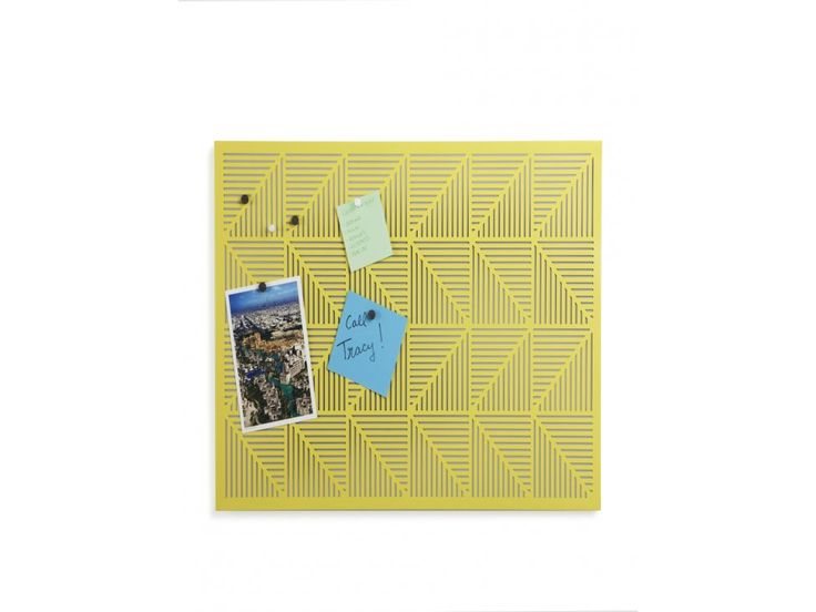 Tablica Magnetyczna Trigon żółta — Tablice i magnesy umbra — sfmeble.pl #yellow #design