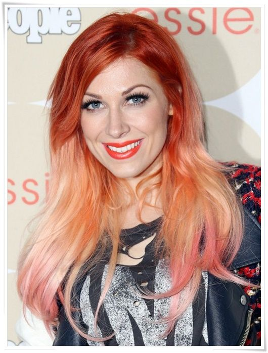 ombre kızıl saç rengi