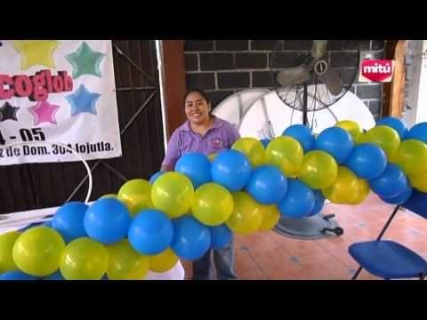 Dica para as mamães que querem fazer a festa do seu filho - Como fazer arco de balões - YouTube