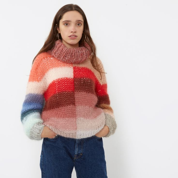 Multi colour block jumper