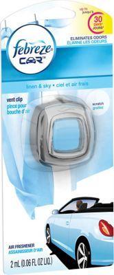 #Staples: Febreze Car Vent Clip Air Freshener (Linen & Sky) $1  Free Store Pickup #LavaHot http://www.lavahotdeals.com/us/cheap/febreze-car-vent-clip-air-freshener-linen-sky/62417