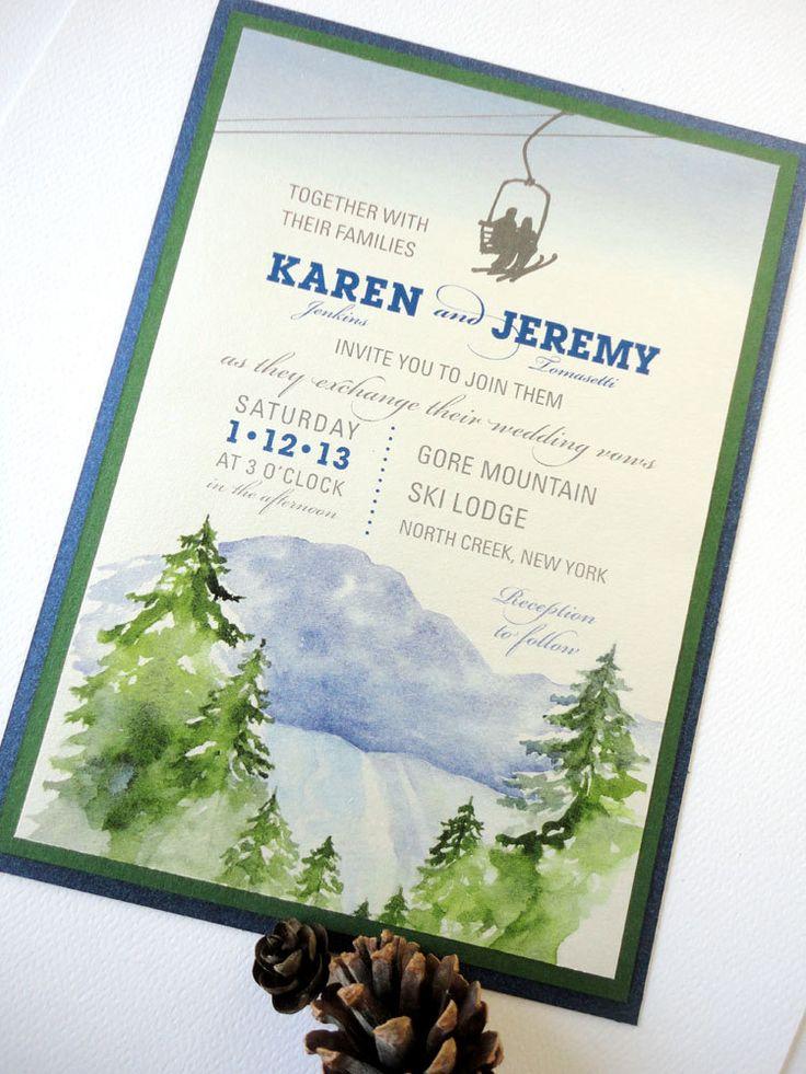 12 best wedding invitations images on mountain wedding