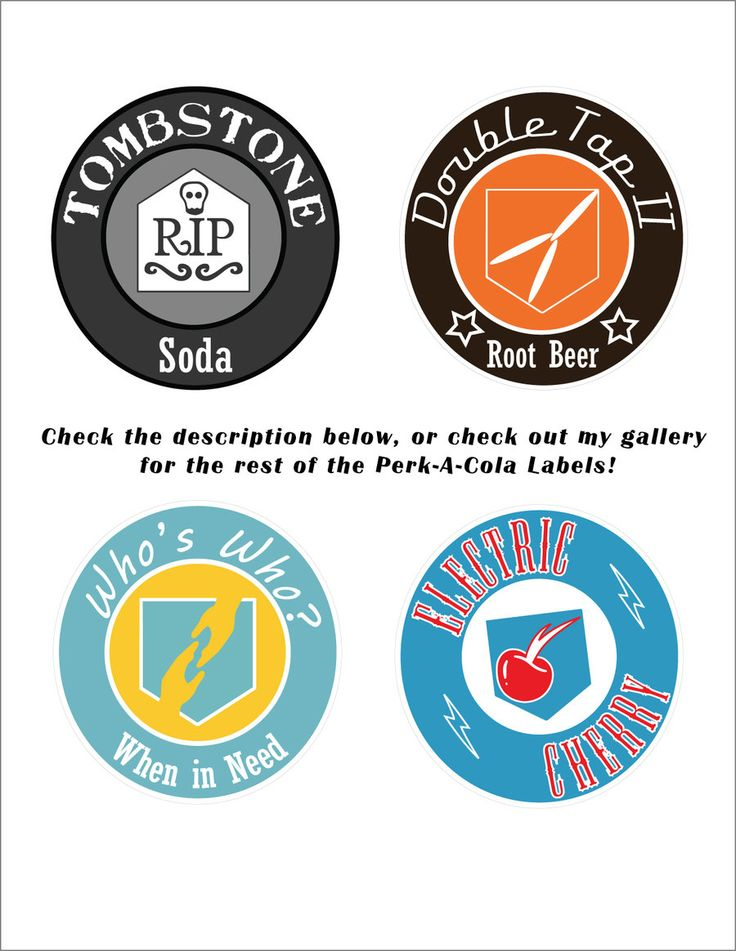 This is a photo of Crazy Printable Perk a Cola Labels