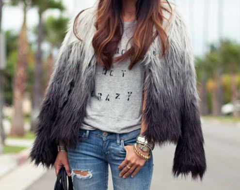 How to Wear Faux Fur with Style