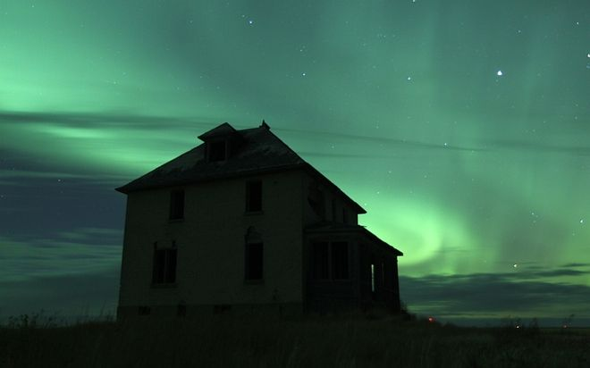 Ryan's pic of Northern Lights south of Leader Oct 8, 2012