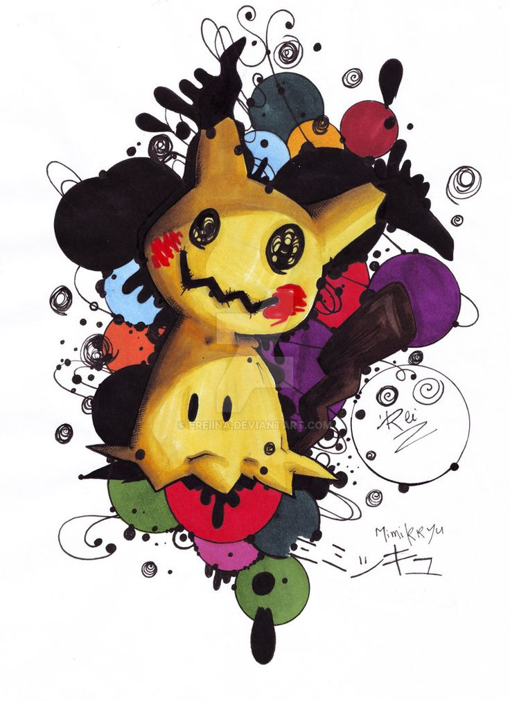 Mimikkyu - 7th gen POKEMON by eREIina.deviantart.com on @DeviantArt #gottasketchemall