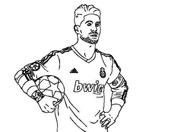 Sergio Ramos Of Real Madrid Coloring Soccer Player Coloring Sheet In 2020 Sports Coloring Pages Football Coloring Pages Coloring Pages