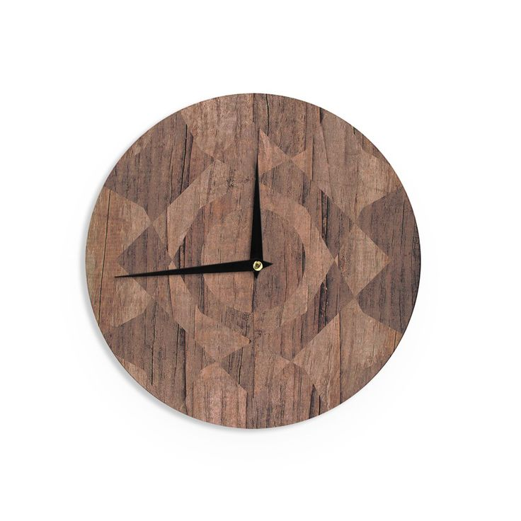 Kess InHouse Matt Eklund 'Indigenous' Beige Wall Clock