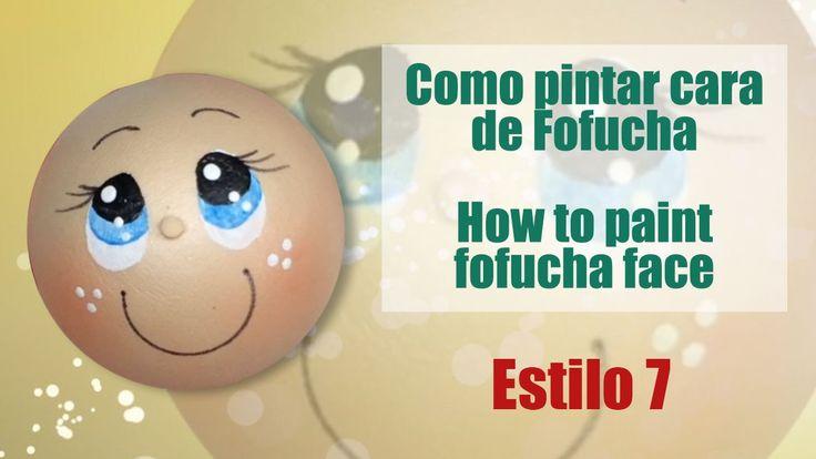 Como pintar cara fofucha 7 - How to paint fofucha face 7