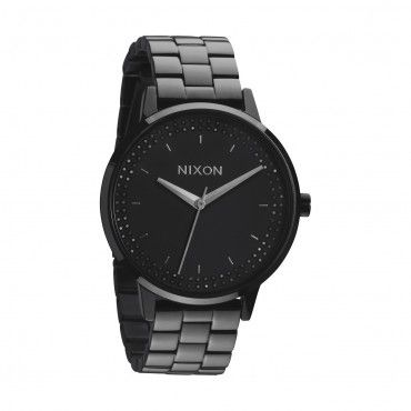 Nixon Womens Watch Kensignton All Black Black Crystal