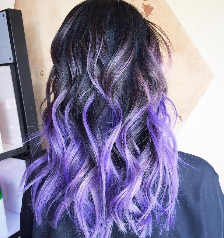 Purple Hair Color Ideas Pastel Ombre Silver Shades Hair Color