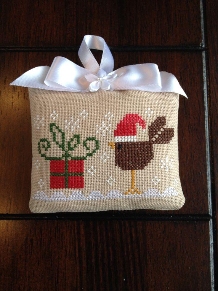 Tralala cross stitch Christmas ornament