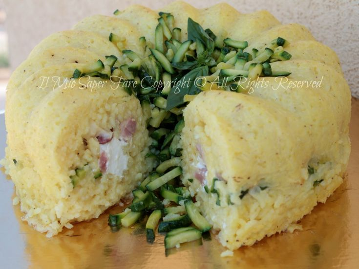 Timballo riso zucchine scamorza affumicata blog il mio saper fare