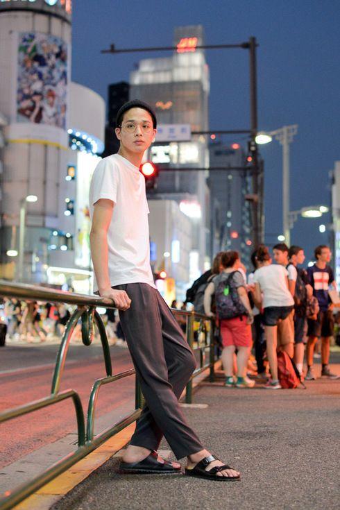 Street Style of Tokyo: PRADA tee, emmmi pants, BIRKENSTOCK sandals & American Apparel Beanie | Fashionsnap.com