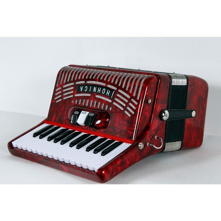 Hohner 48 Bass Entry Level Piano Accordion Red 888366033944