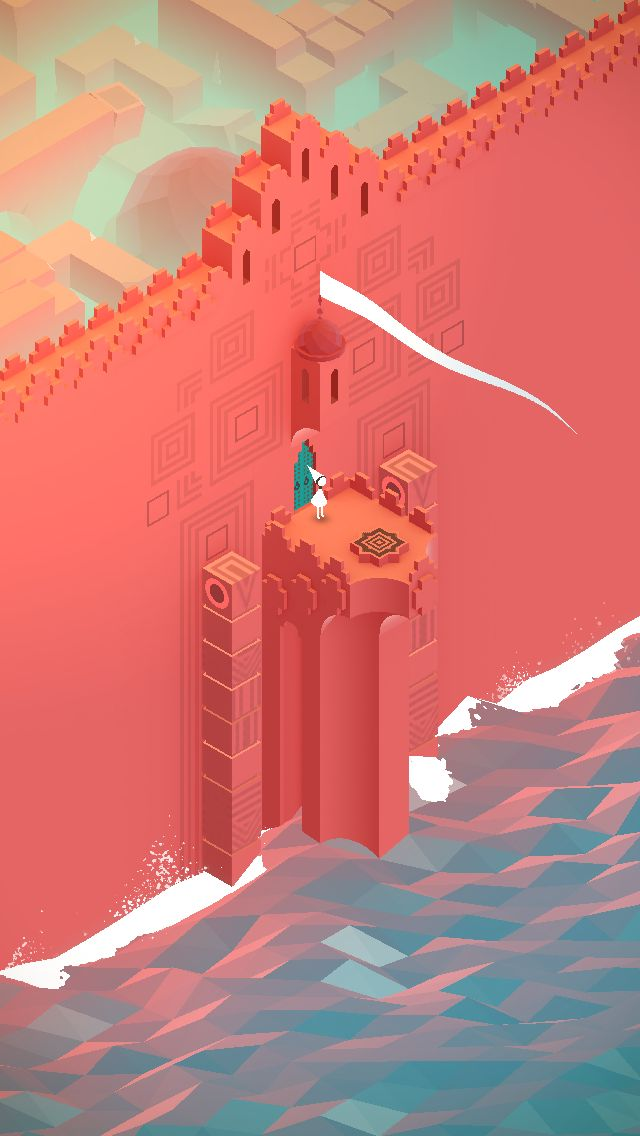 The red wall / #MonumentValley iOS #Game by ustwo