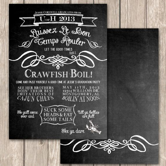 28 best images about Cajun theme fo my boo on Pinterest New - best of invitation wording ideas for graduation party