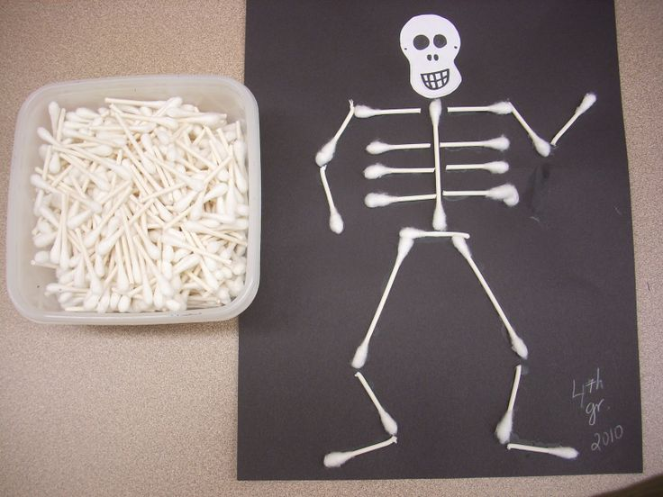 susan akins posted halloween art projects skeleton craft and skeleton art to their preschool items postboard via the juxtapost bookmarklet - Preschool Halloween Art Projects