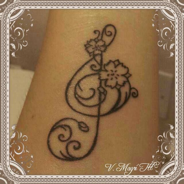 Chiave di violino tattoo