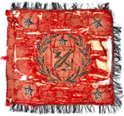 Banderola del Regimiento Artillería de Marina utilizada durante la Guerra del Pacífico