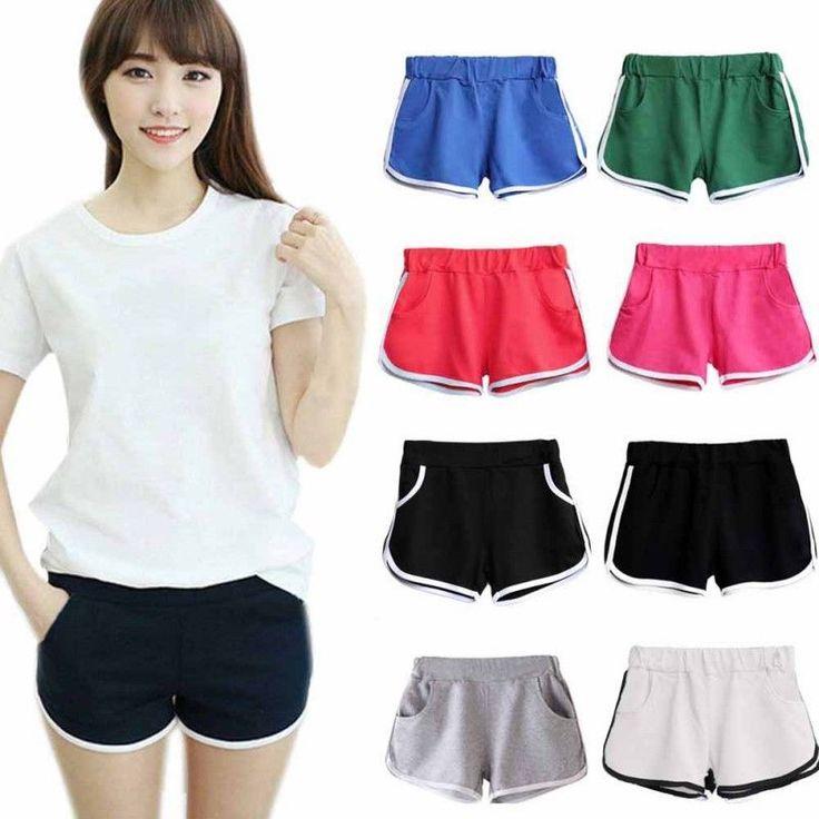 Summer Short Pants Women Sports Pants Gym Workout Waistband Skinny Yoga Shorts #Unbranded #PantsTightsLeggings