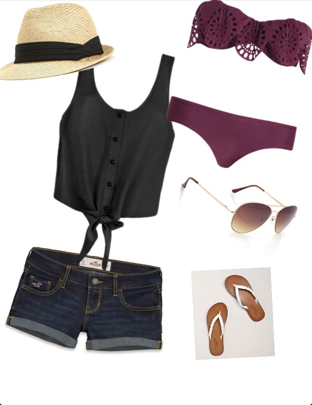 Beach outfit. Cute with a different bikini or maybe just a bandeau