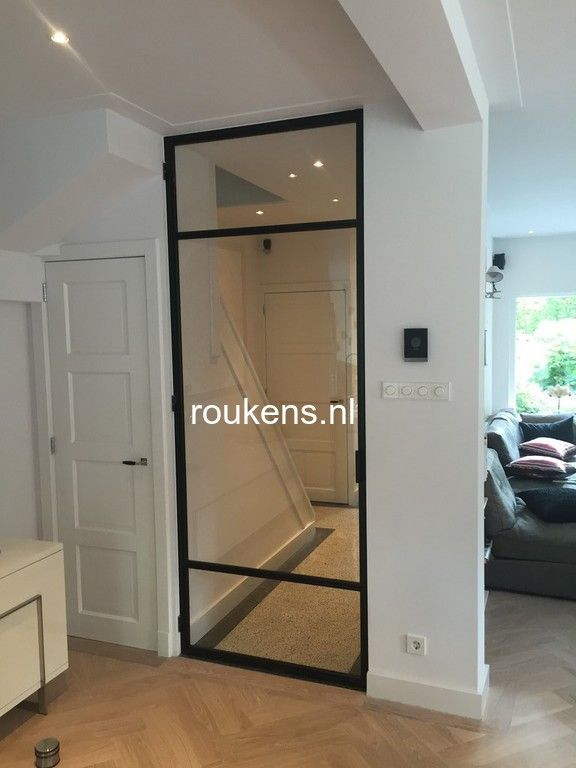 Deuren / Rank stalen deur met 3 vlaksverdeling in Bilthoven