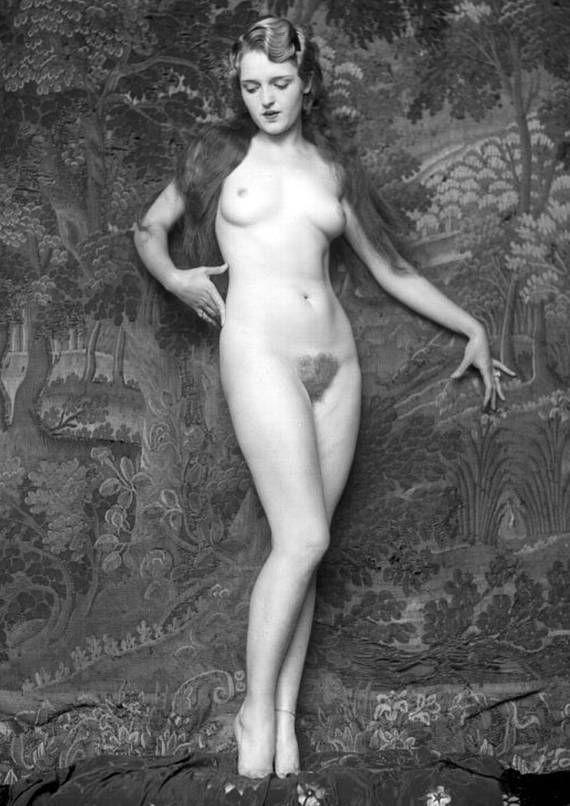 Vintage Nude  Full Frontal  Vintage, Monochrome, Nude-6103