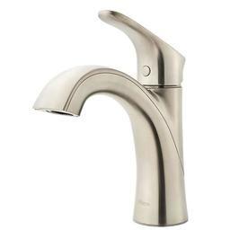 Pfister Weller Brushed Nickel 1-Handle Single Hole Bathroom Sink Faucet Lg42-Wr0k