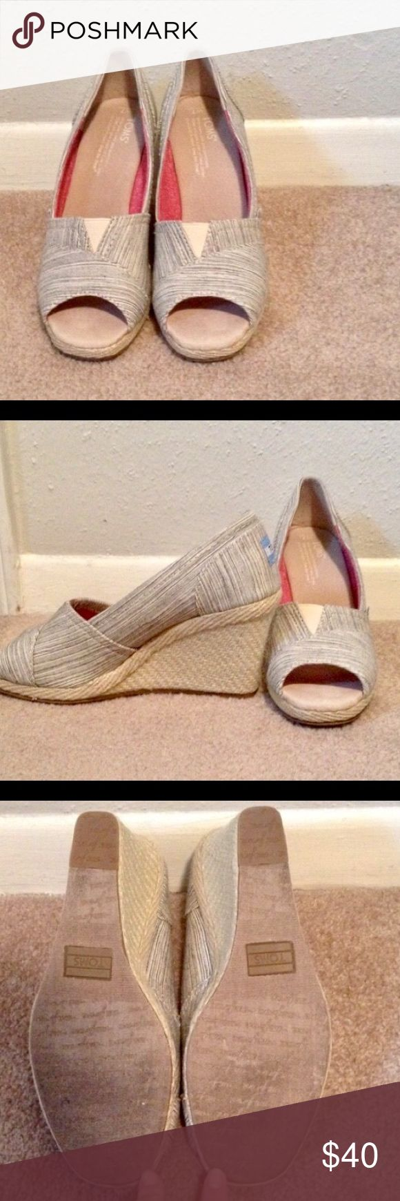Toms wedges Great condition worn once size 7 TOMS Shoes Wedges
