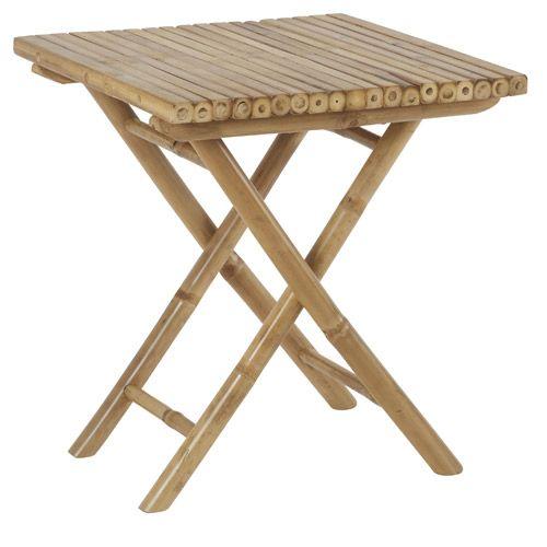 Table de jardin pliante en bambou Hanjel