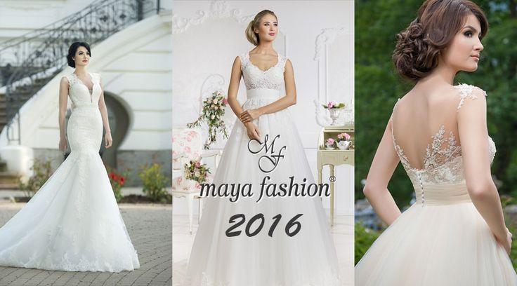 Vezi in acest articol rochiile alese din colectiile 2016 de la Maya Fashion! Poti solicita o oferta chiar prin Wedding Box pentru rochia de mireasa.