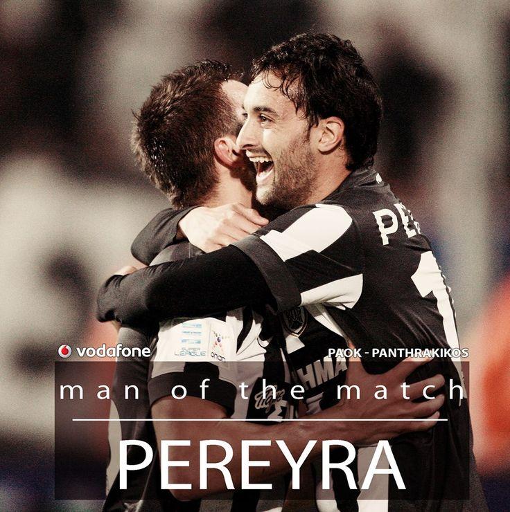 12η Αγωνιστική Superleague ΟΠΑΠ 2014/15¨ΠΑΟΚ-Πανθρακικός Vodafone MVP: Facundo Pereyra