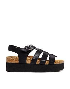 Truffle Flatform Gladiator Flat Sandals