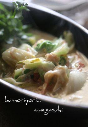 白菜の中華風チーズミルク煮。