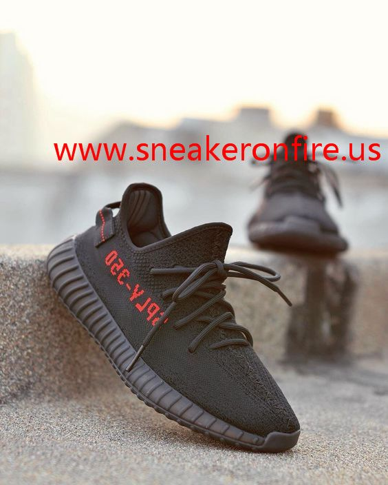 yeezy boost 350 v2 on feet copper kanye west adidas boost red