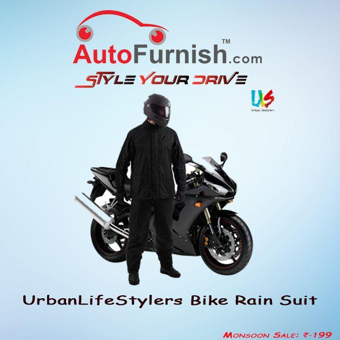 It's not a Race, It's a Journey, Enjoy The Monsoon Sale! Rain Suit @ Rs.199 www.autofurnish.com/rain-suit