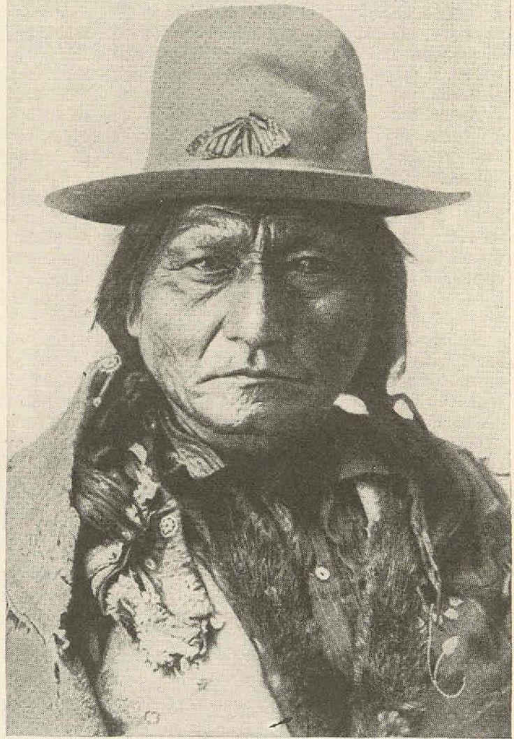 Tatanka Iyotanke, Sitting Bull, Hunkpapa Lakota SITTING BULL wears a monarch butterfly on his hat.
