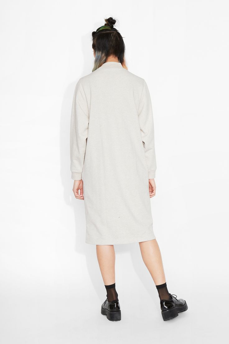 Monki Image 3 of Aina sweat dress in Beige Light