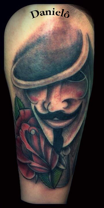 V for vendetta my tattoos pinterest tattoo for Crazy train tattoos